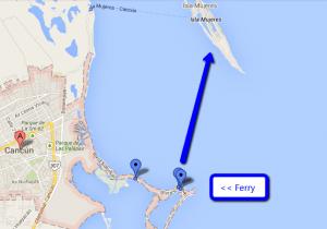 Ferry to Isla Mujeres Mexico