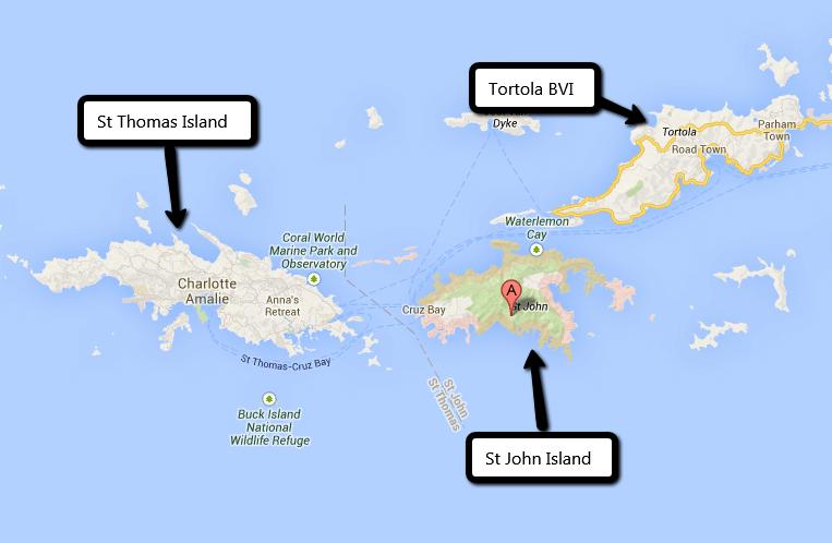 Virgin Island Map