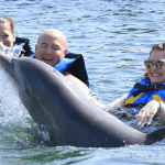 Everyone having fun with Dolphins Mexico