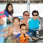 Dolphin Encounter Family Photo Nassau Bahamas