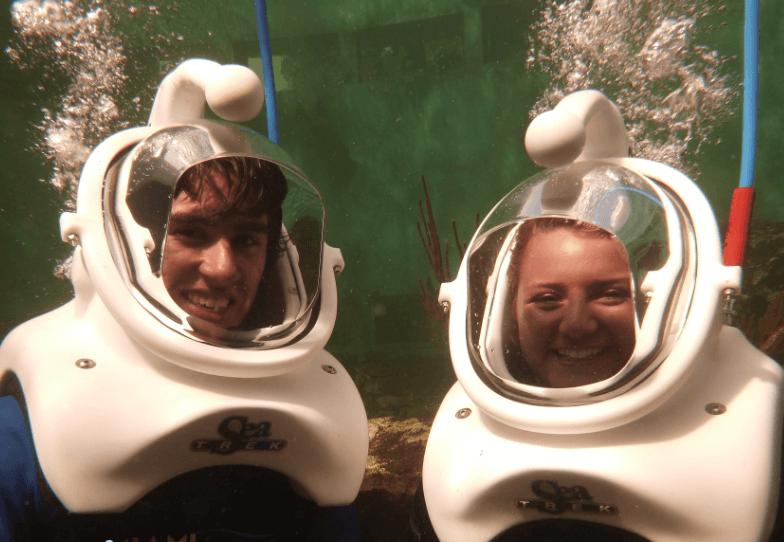 Happy Couple and Sea Trek Miami FL