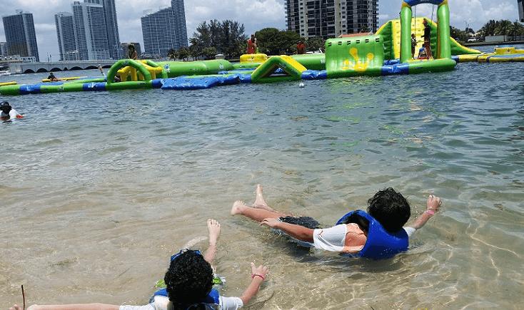 Swimming in Bay Miami FL