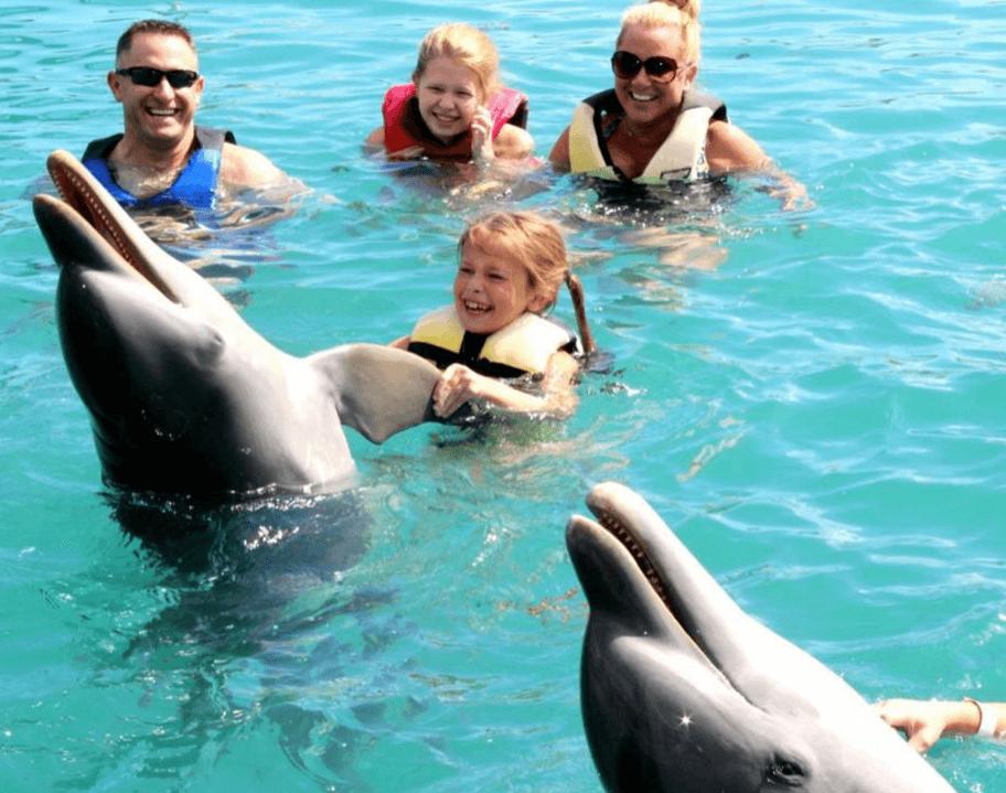 Having Fun with the Dolphin Nassau Bahamas