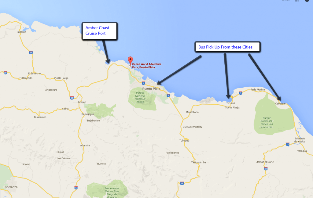 Puerto Plata and Dolphin Facility Map