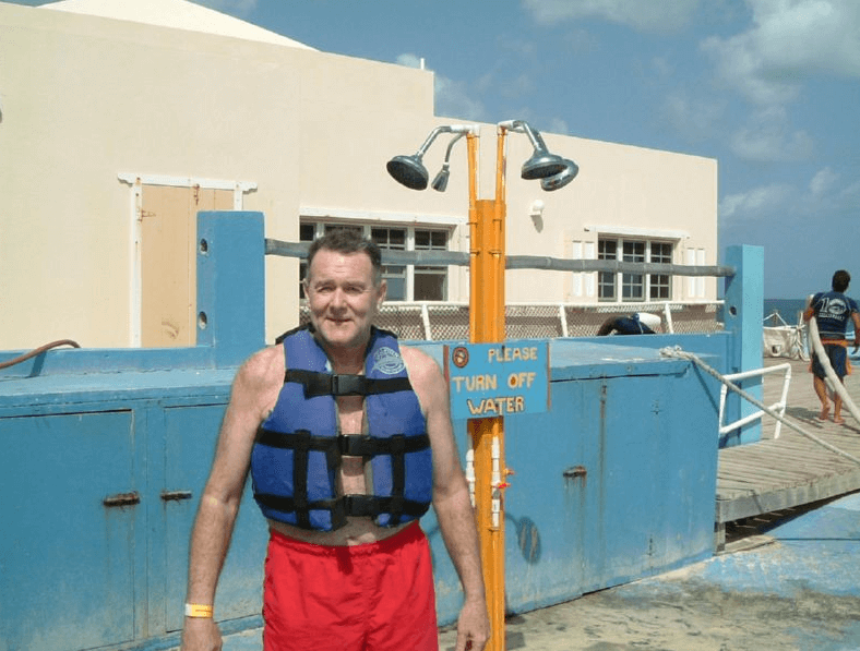 Getting Ready to go into the Water in Anguilla
