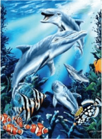 Dolphin Blanket queen size 79 x 95
