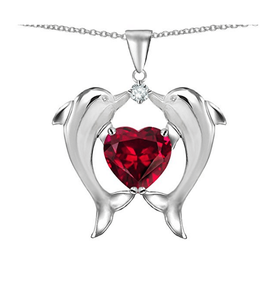 Dolphin Ruby Pendant