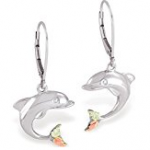 dolphin black hills sterling silver earring