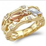 3 ring dolphin ring