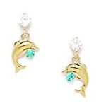 dolphin cubic zironia earring