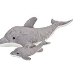 dolphin and baby plush