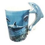 dolphin coffee cup