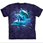 dolphin collage tee shirt