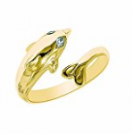 Dolphin Gold Toe Ring