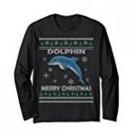 dolphin merry christmas tee shirt