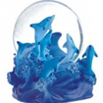 dolphin pod snow globe