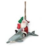dolphin santa ornament