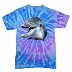 Dolphin Tee Shirt purple and blue