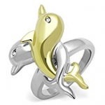 two tone dolphin ring